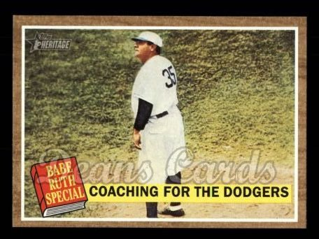 2011 Topps Heritage #142 A Coaching For The  -  Babe Ruth